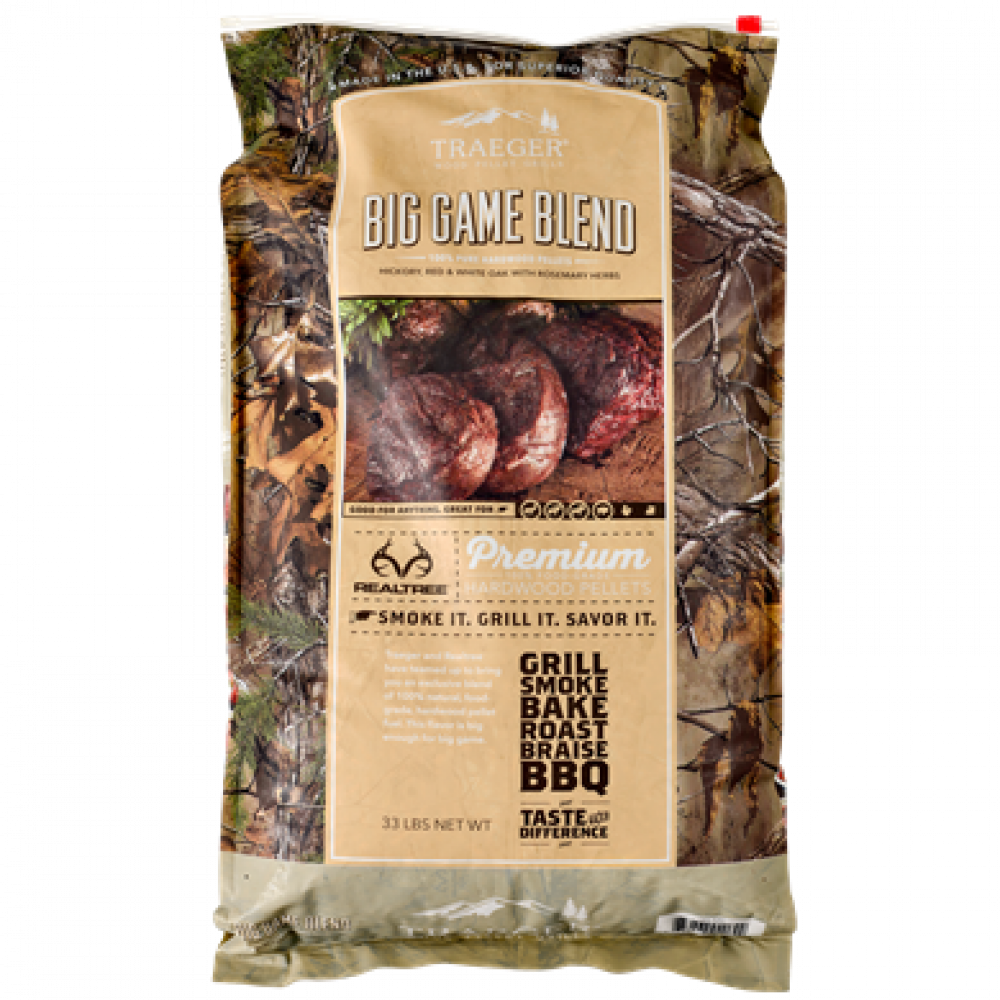 Traeger grills Big game mixed pellets 14,9 kg