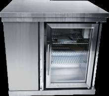 Kylskåpsmodul med förvaringsskåp