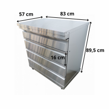 Omberg utekök modul med 4 lådor
