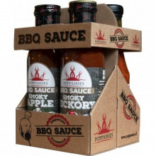 Poppamies BBQ-SET (Smoky Apple, Hickory, Cherry & Cola och Roasted Garlic)