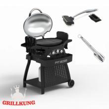Portabel grill med tillbehör